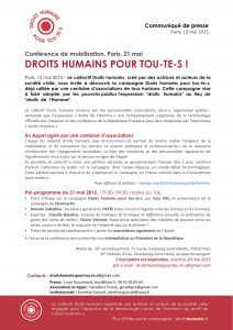 21 mai Conférence Droits humains pour tou-te-s