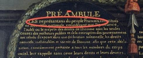 Aux «représentans du peuple Francois»
