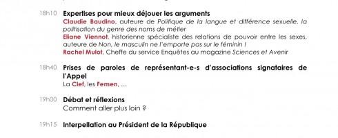 Pré-Programme de la conférence du 21 mai, Paris, Mairie du 10e
