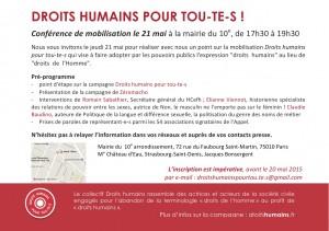 Droits humains 21 mai