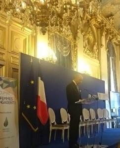 Laurent Fabius, conférence Femmes et climat, paris, octobre 2015